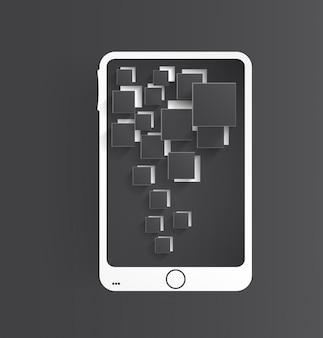 Vector Handy-Symbol und glänzend