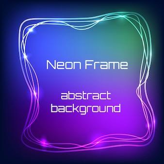 Vector Neonlicht Rahmen
