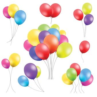 Vector Reihe von Ballons