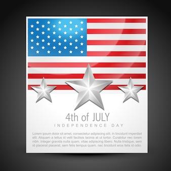 Vektor 4. von juli unabhängigkeit tag design kunst