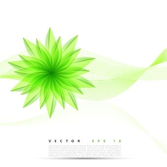 Vektor abstrakten Hintergrund Blume.