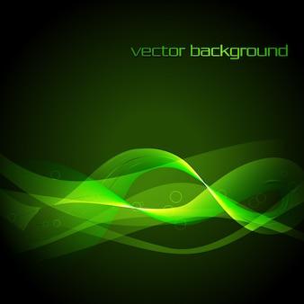 Vektor eps10 grüne Welle Hintergrund