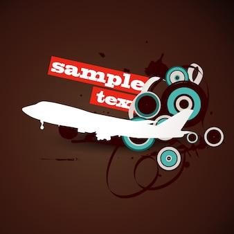 Vektor Flugzeug Hintergrund Design Kunst