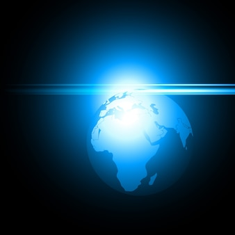 Vektor glänzend blaue Erde Illustration