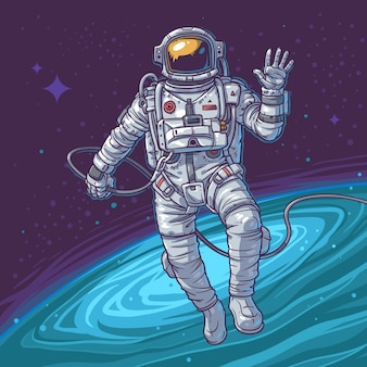 Vektor-Illustration Kosmonaut