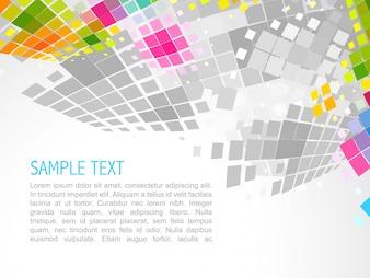 Vektor-Illustration von Mosaik-Welle Hintergrund
