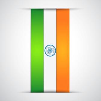Vektor indische flaggenentwurfskunst