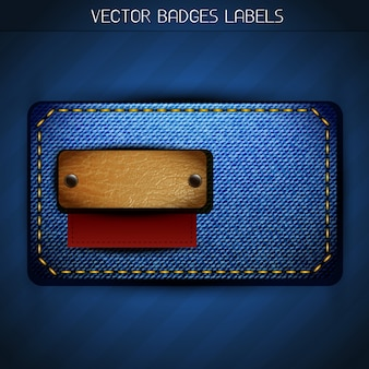 Vektor-Jeans-Stil Etikett Design