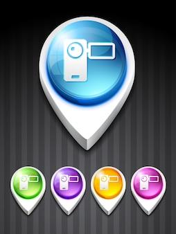 Vektor-Kamera-Recorder-Symbol Design-Kunst