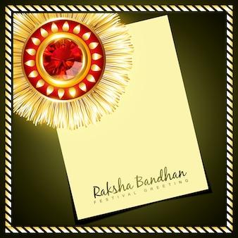 Vektor kreative raksha Bandhan Hintergrund