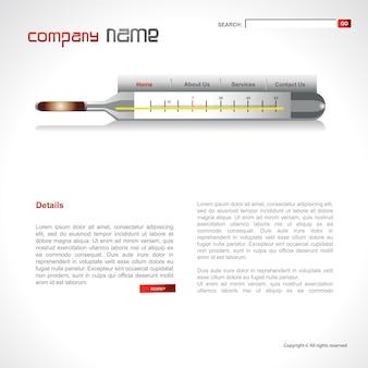Vektor medizinische Vorlage Design Artwork