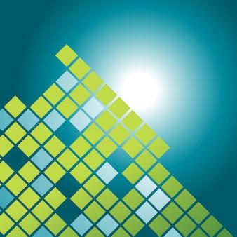 Vektor Mosaik Muster Design Illustration