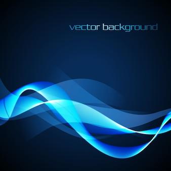 Vektor Neon glühende Welle Design Hintergrund