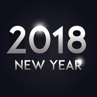 Vektor-neues Jahr 2018 Hintergrund