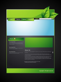 Vektor Öko-Web-Layout-Design