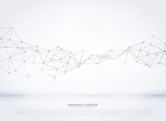 Vektor polygonalen abstrakten Netzwerk Drahtgitter Hintergrund
