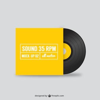 Vektor schwarzen Vinyl-Schallplatte