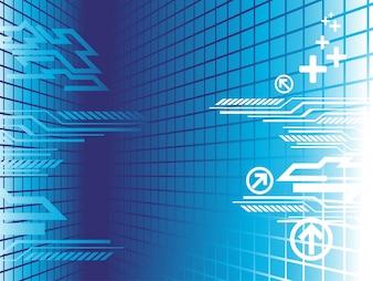 Vektor-Technologie Hintergrund