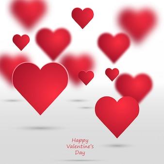 Vektor Valentine Herzen Hintergrund.