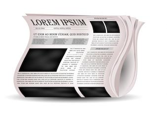 Vektor-Zeitungen und Nachrichten-Symbol.