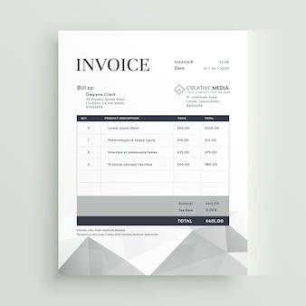 Vektor Zitat Rechnung Vorlage Design