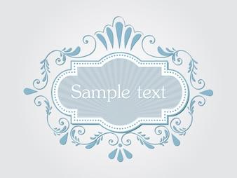Vektoreinladung, Karten oder Hochzeitskarte mit eleganten Blumenelementen. Arabesken-Design. Elegante Blumen abstrakte Verzierungen. Design-Element. Vector Vintage-Rahmen