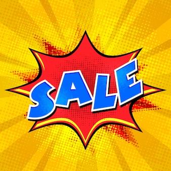 Verkauf Hintergrund in Comic Pop Art Stil.