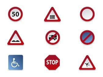 Verkehrszeichen Symbol Sammlung