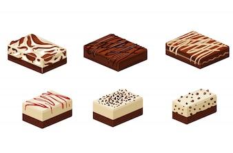 Verschiedene Arten von Brownies