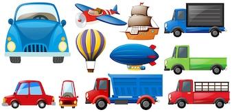 Verschiedene Arten von Transporten