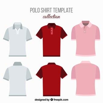 Verschiedene Polohemden für Männer