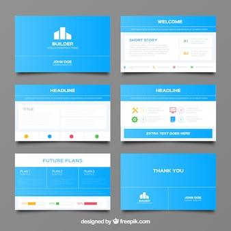 Verschiedene Präsentationen mit Infografik-Daten