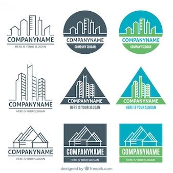 Verschiedene Versionen von Immobilien Logos