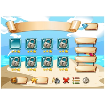 Videospiel-Screen-Design