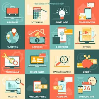 Vielzahl von Business-Symbole