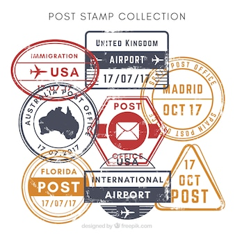 Vielzahl von dekorativen Briefmarken