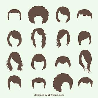 Vielzahl von Frisuren