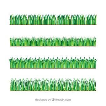 Vielzahl von Gras Grenzen in grünen Tönen