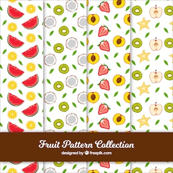 Vielzahl von handgezeichneten Fruchtmustern