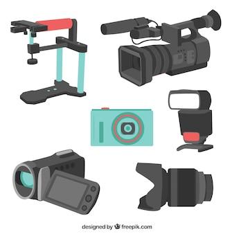 Vielzahl von Kamera-Ausrüstung