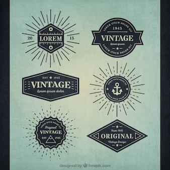 Vielzahl von retro Abzeichen