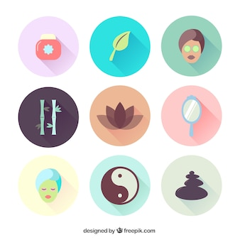 Vielzahl von Wellness-Icons