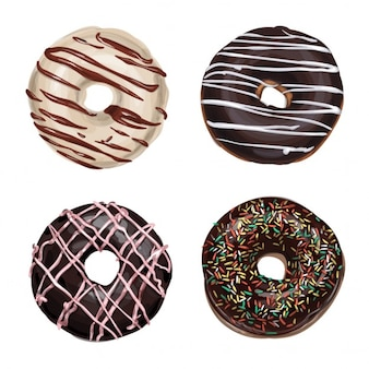 Vier Donuts