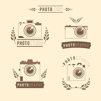 Vier handgezeichnete Kamera-Logos