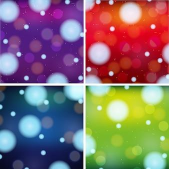 Vier Hintergrund Design mit hellen Farben