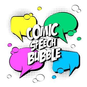Vier komische Sprechblase
