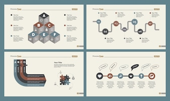 Vier Produktions-Folienvorlagen Set
