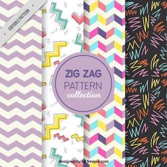 Vier Zick-Zack-Muster