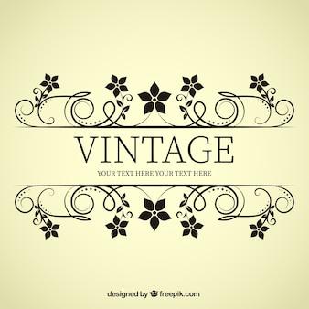 Vintage Blume Banner
