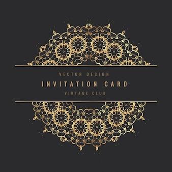 Vintage-Einladung